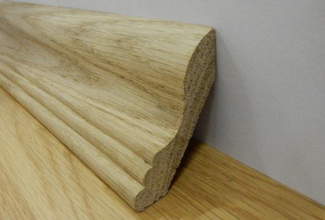 Деревянный плинтус из массива
