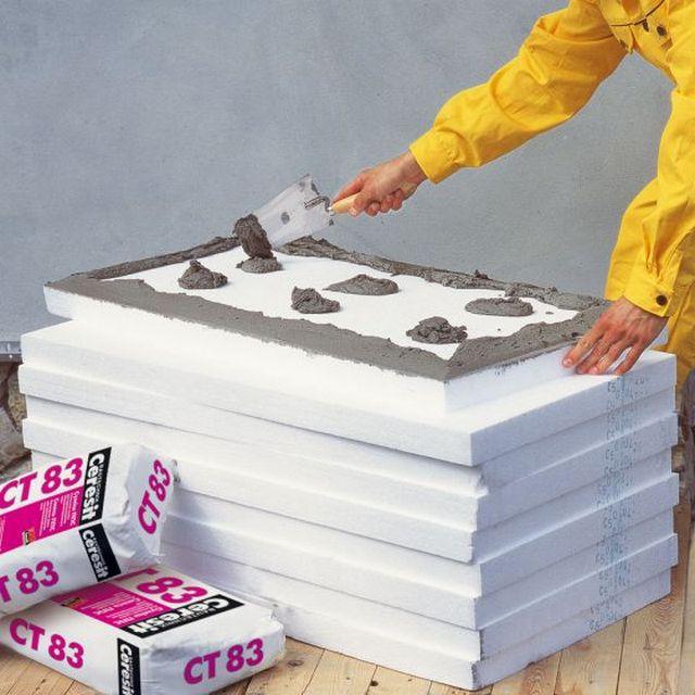 Утеплительные плиты можно монтировать на строительный клей