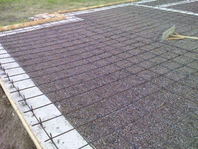 Подготовка к заливке бетонного пола