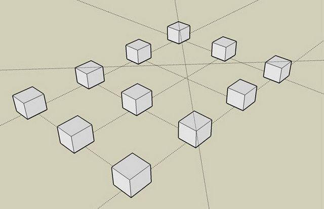 Примерная схема столбчатого фундамента