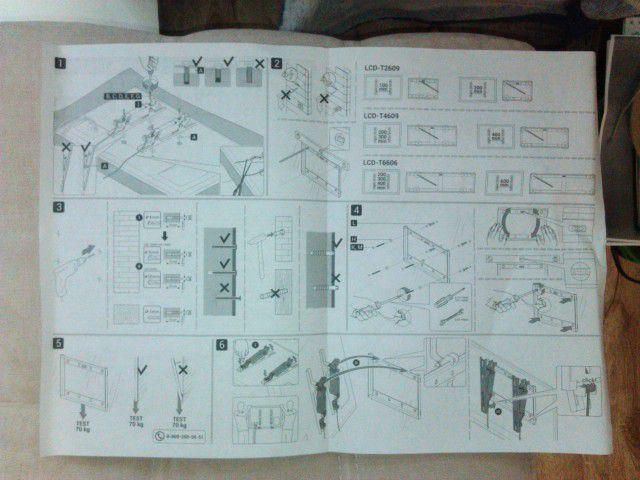 Инструкция по креплению телевизора
