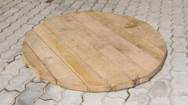 Осиновый круглый щит для донного фильтра на плывуне