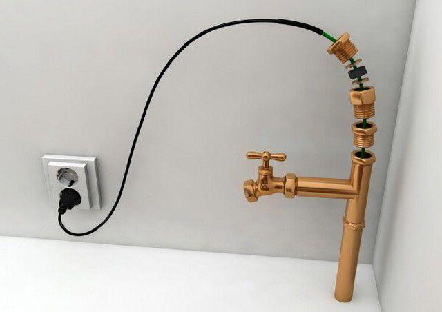 Для установки кабеля внутри трубы обычно достаточно удельной мощности 10 Вт/м
