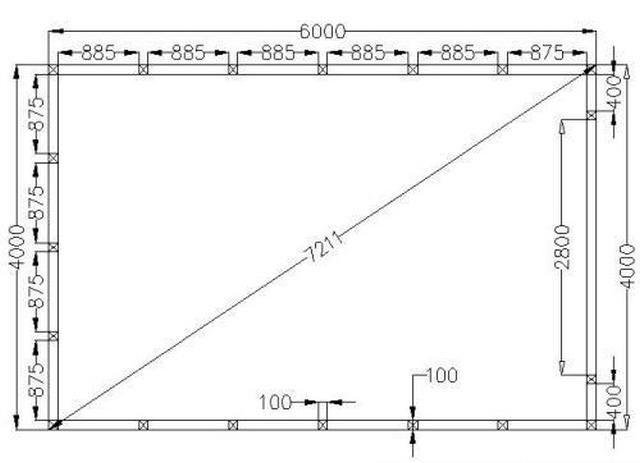 Схема каркаса для гаража из металла 358
