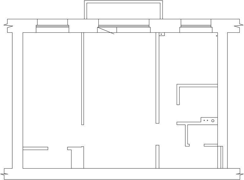 Если в комнате есть два окна - задача упрощается. Легкие каркасные стенки разделят ее на два светлых помещения