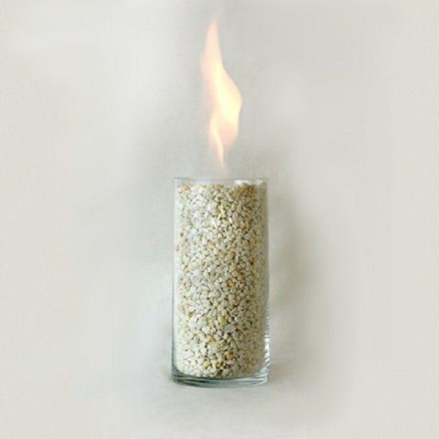 В качестве корпуса иногда используется огнестойкий стеклянный стакан