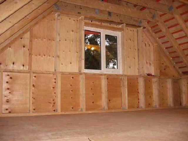 Внутренняя обрешетка для утепления фронтонных стенок
