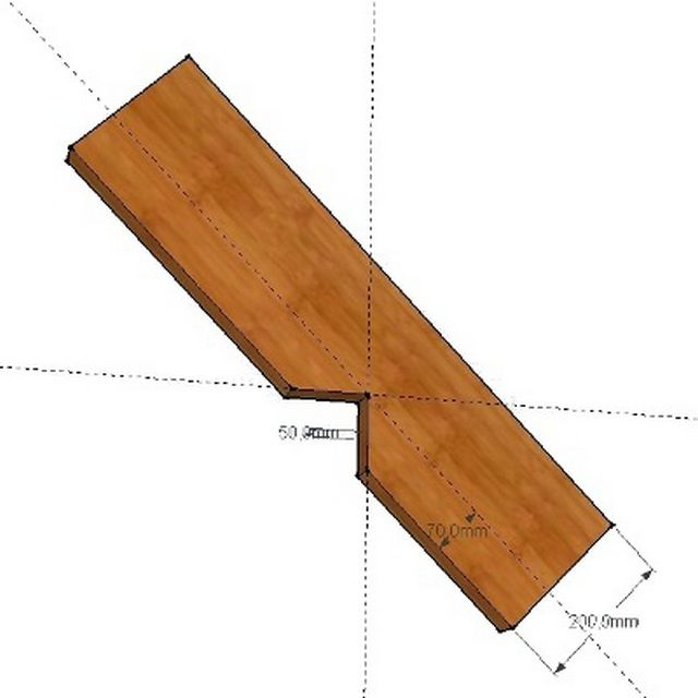 Паз на стропиле для стыковки с мауэрлатом