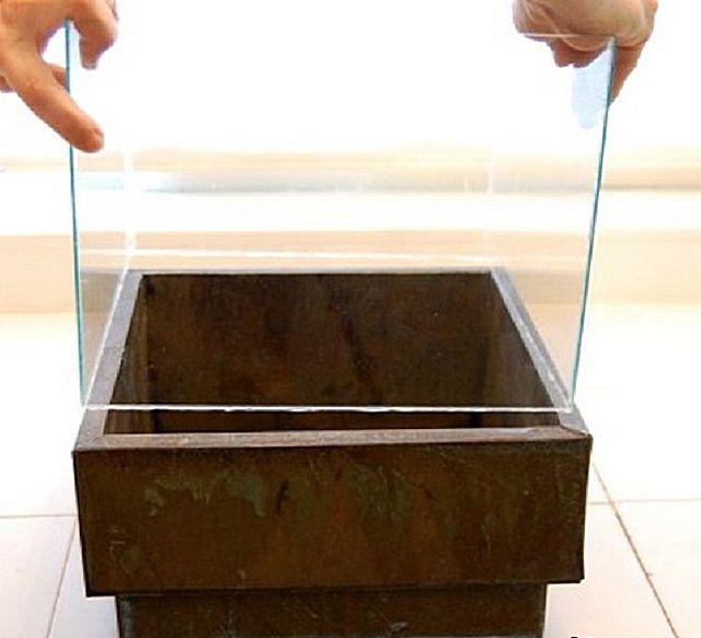 Установка стеклянного куба