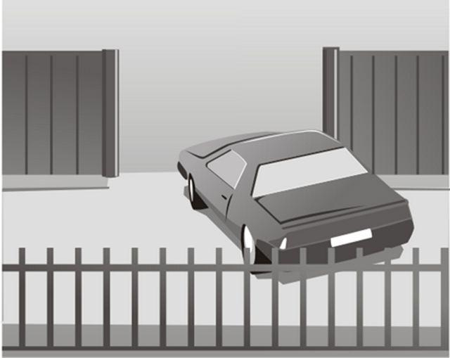 Узкие улицы требуют расширенного проема ворот