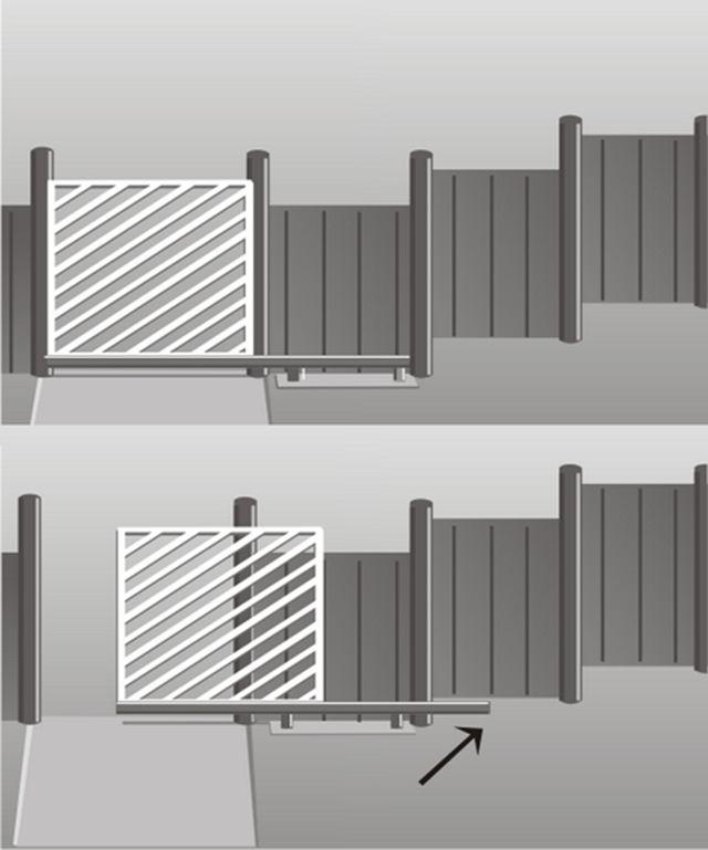 Неровности рельефа могут усложнить монтаж откатных ворот