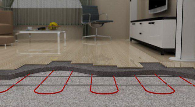 Греющие кабели, как правило, устанавливаются под стяжку