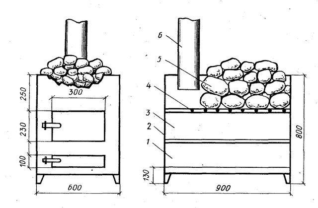Один из простейших в изготовлении вариантов печки периодического нагрева