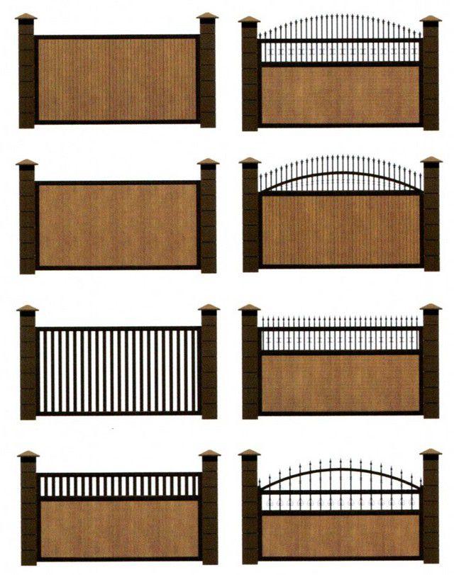 Одни из немногих вариантов отделки полотна откатных ворот