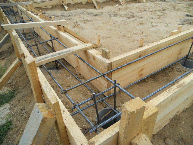 Комбинированный усиленный фундамент для нестабильных грунтов