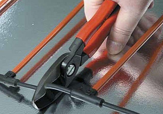 Разрезание токопроводящей шины