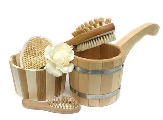 Набор банных аксессуаров из натуральных материалов