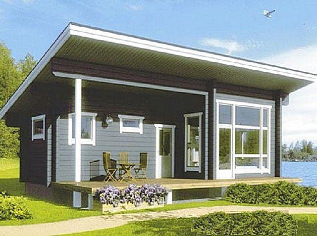 Односкатная крыша, хоть и редко, но тоже используется в жилых домах