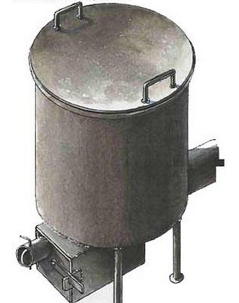 В ряде случаев для просушки погреба можно использовать небольшую печку-буржуйку