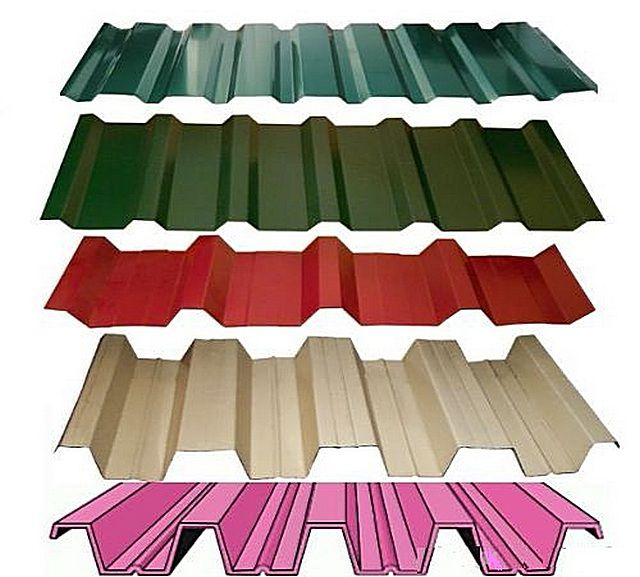 Профнстил может существенно различаться по толщине металлического листа, форме и высоте волн, виду покрытия, расцветке