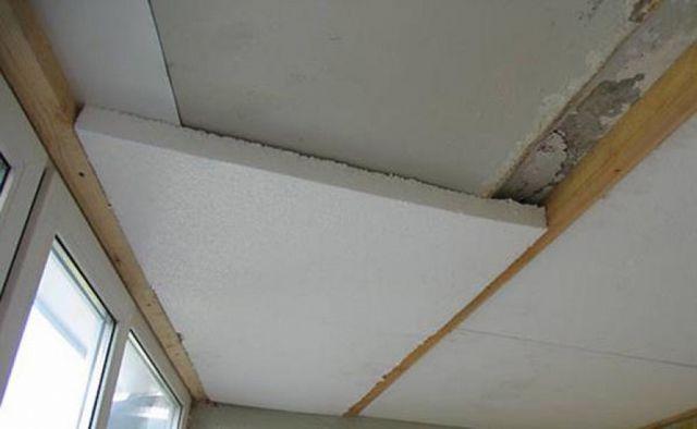Утепление потолка с помощью пенопластовых плит