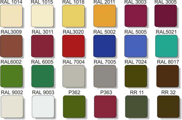Выпускается профнастил в различных цветовых тонах по стандартным каталогам