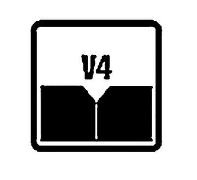 Значок, говорящий о наличии V-образной фаски