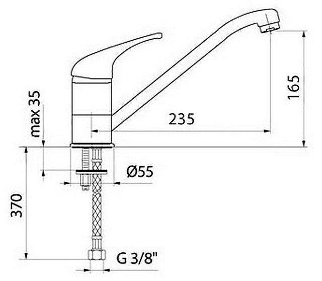 Примерная схема установки смесителя на шпильки