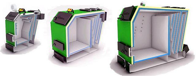 У некоторых моделей котлов камера дожига может располагаться и иначе, например, сзади