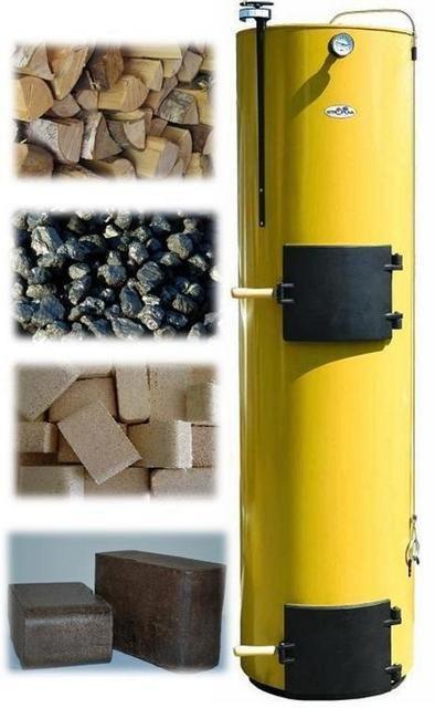 Вертикальные котлы «Stropuva» могут длительное время работать практически на любом твердом топливе