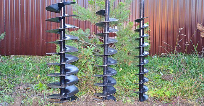 Виды буров для шнекового способа бурения скважин