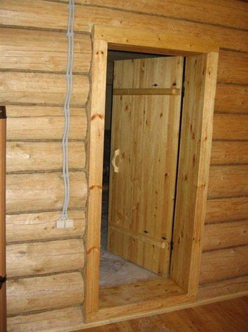 Двери в баню и предбанник: как сделать, подобрать 19