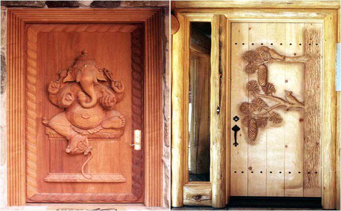 Дверь в баню деревянная