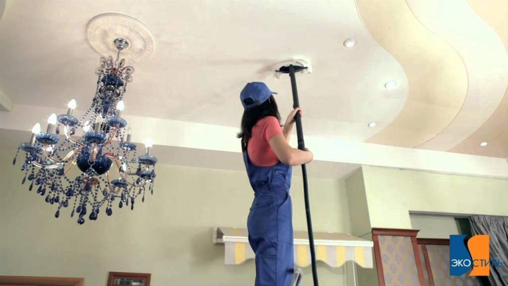 Как помыть потолок