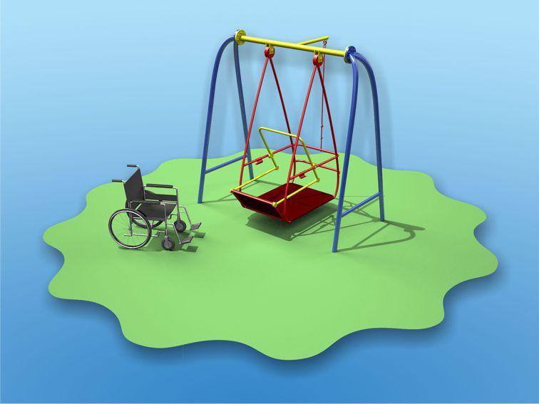 Качели для детей с ограниченными физическими возможностями