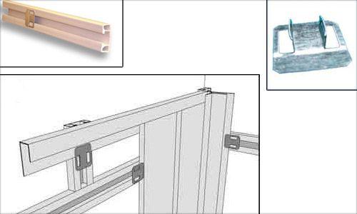 Крепление панелей с использованием пластикового профиля при помощи специальных клипс