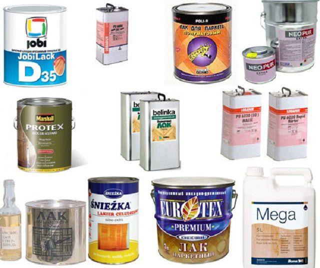 Лаки представлены в продаже в очень широком разнообразии