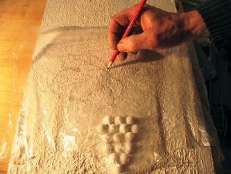 Накрываем пленкой и прорисовываем контуры