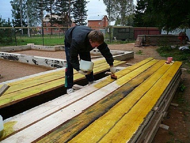 Обработка древесины антисептическими составами