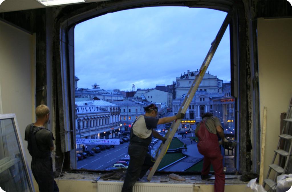 Окно демонтировано