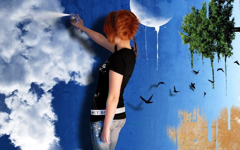 Окрашивая стены, фантазируйте