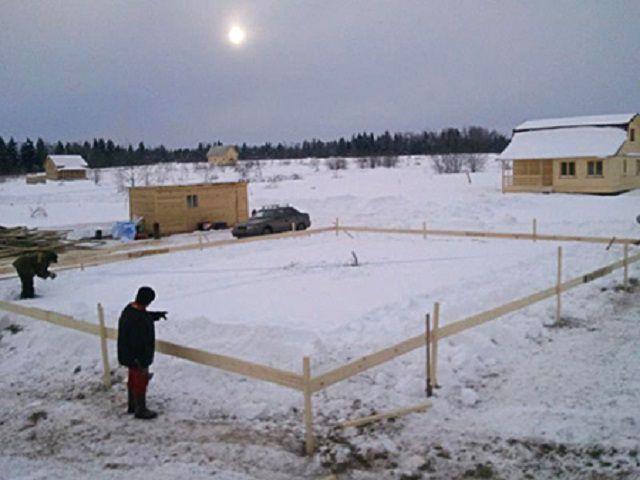 Проведение разметочных и трассировочных работ на  строительной площадке