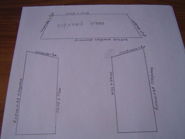 Схема откосов