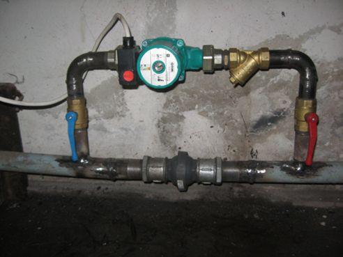Установка насоса в систему отопления теплицы