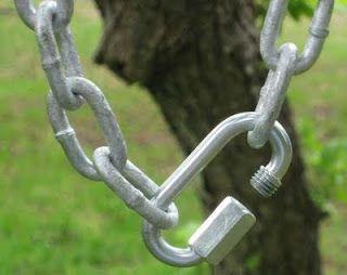 Вариант фиксации цепи