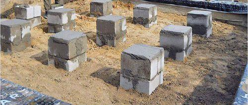 Фундамент столбчатый из кирпичей