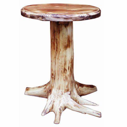Дачный столик из пня