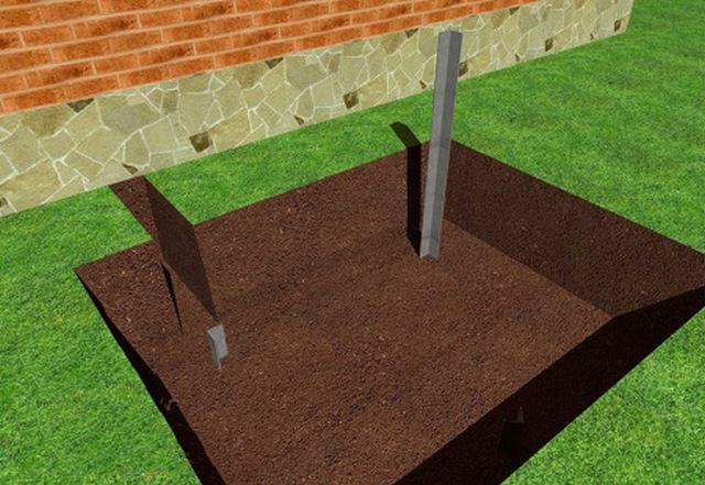 Электроды последовательно забиваются в землю на нужную глубину
