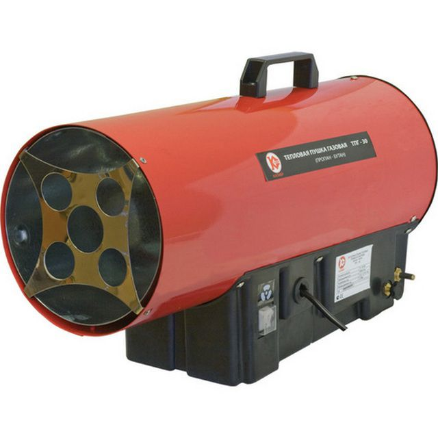 """Поддержание температуры можно обеспечить установкой электрической или газовой """"тепловой пушки"""""""