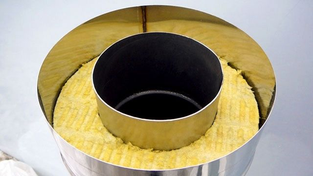 Торец сэндвич-трубы для монтажа дымохода